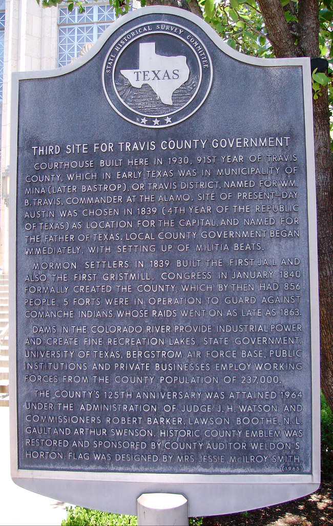 Travis County Government Marker (Austin, Texas) | Located in