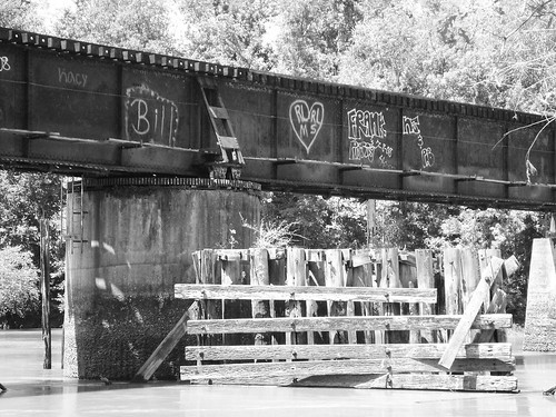 swing railroad railway train bridge neches river evadale texas historic black white blackandwhite blackwhite bw b w movable moving draw drawbridge pontist united states north america