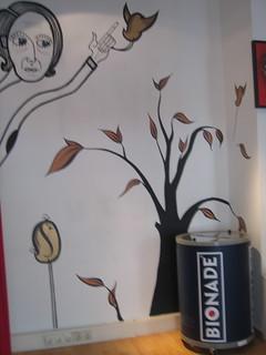 Bionade and mural.
