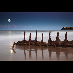 Moonrise over the wreck | by Garry - www.visionandimagination.com