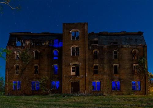 abandoned college night ruins texas allen mary seminary crockett