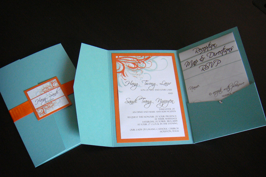 Wedding Invitations Blue Orange Please Contact Me For Flickr