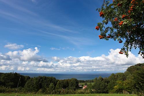 blue sky azul skåne scenery blauw day view cloudy sweden blu schweden bleu sverige blau scania blå bastad suéde svezia skane båstad rowanberry båstad skanelan