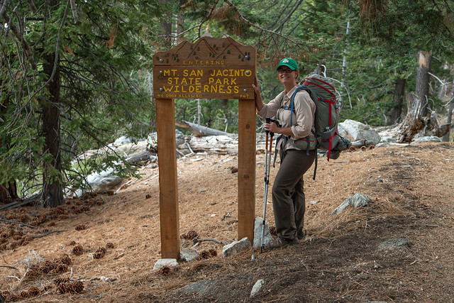 Entering the State Park from the PCT