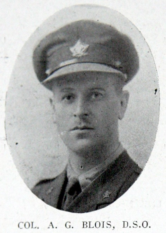 Lt-Col Arthur Blois, 25th Battalion