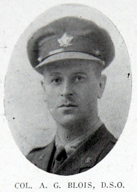 Lt-Col Arthur Blois, 25th Battalion