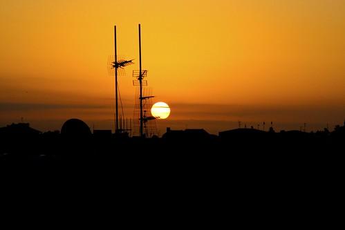 rooftop silhouette sunrise cityscape horizon cyprus nicosia kypros