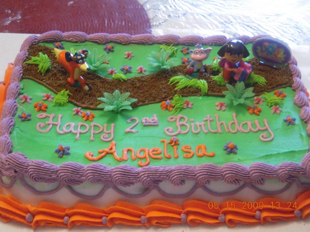 Awe Inspiring Dora Cake 1 My Daughters 2Nd Birthday Cake I Bought The Flickr Birthday Cards Printable Benkemecafe Filternl