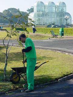 Gardener at Botanical Gardens - Curitiba - Brazil | by Adam Jones, Ph.D. - Global Photo Archive