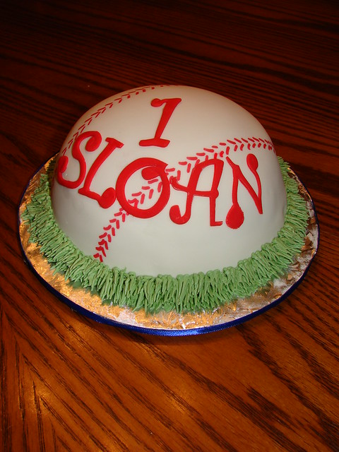 Sloan's 1st Birthday Baseball Smash Cake