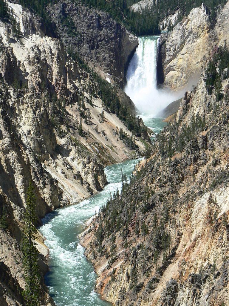 Multiple Waterfalls Taken From Artist U0026 39 S Point Yellowstone