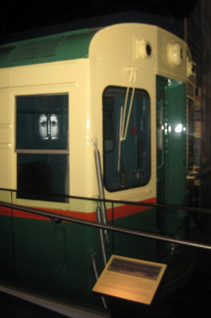 Washington DC - National Museum of American History: America on the Move - Chicago Transit Authority Rapid Rail Transit car 6719