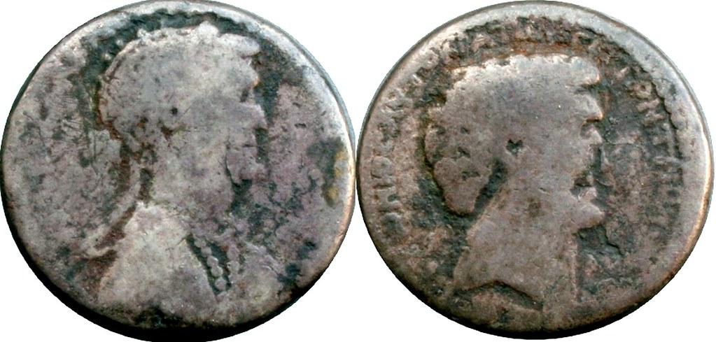 RPC-4094 #9732-13 Syria Cleopatra Mark Antony Tetradrachm