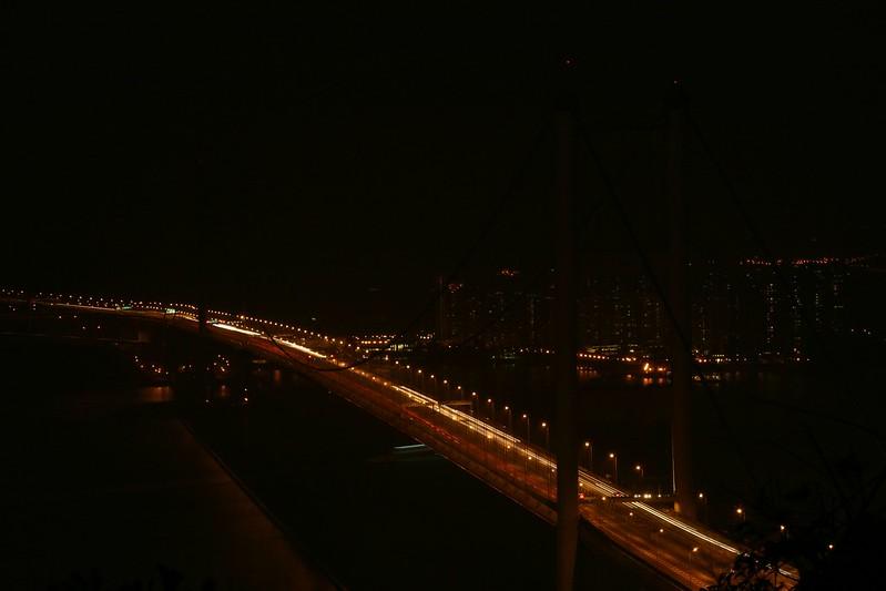 Hong Kong Tsing Ma Bridge during Earth Hour