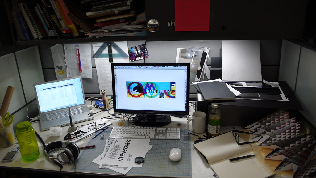 Graphic designer work desk