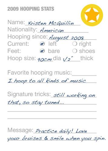 Hooper Trading Card - stats