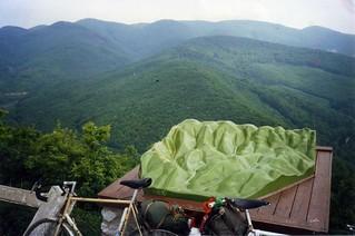 Bükk Mountains,Hungary. 3-dimensional topographical map, May 1988