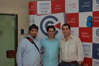 Barry Schwartz, Ophir Cohen & Olivier Amar at SEM Meetup Tel Aviv, Israel | by rustybrick