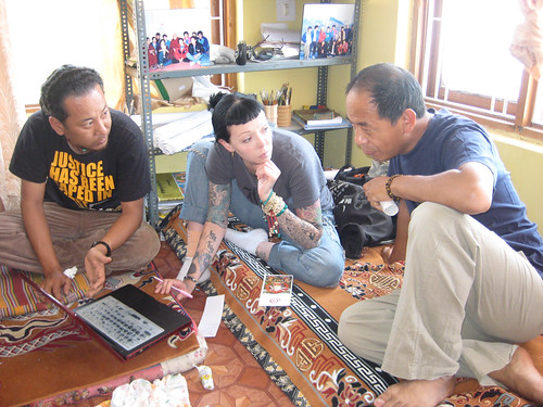 Tenzin Ngodup, Heidi and Migmar Tsering at ITTA | by heidiminx1