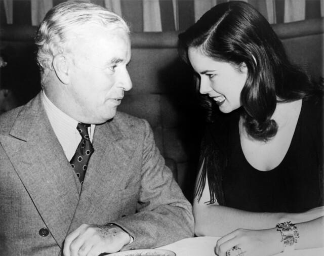 Charlie and Oona Chaplin, Associated Press photo, 1944