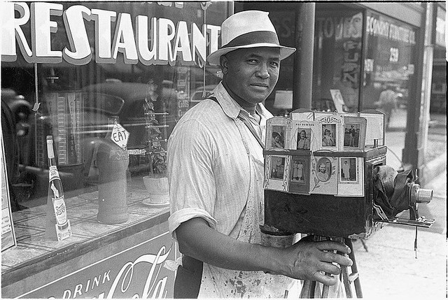 Image: Itinerant photographer in Columbus, Ohio, August, 1938, by Ben Shahn.  Farm Security Administration - Office of War Information Photograph Collection (Library of Congress).