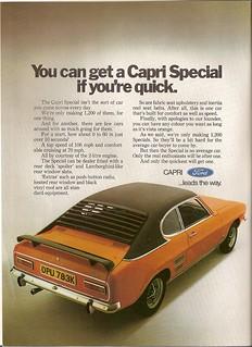 Ford Capri Vista Orange Special Advert 1971 | by Trigger's Retro Road Tests!