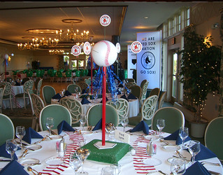 Red Sox Theme Centerpiece, Baseball   The Prop Factory   Flickr