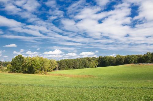 blue sky clouds landscape virginia day cloudy farm civilwar battlefield 1863 chancellorsville