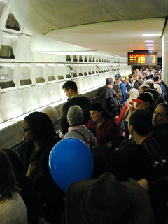 Crowded Platform | by M.V. Jantzen