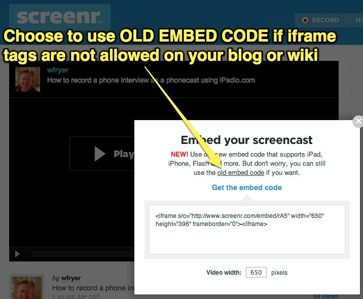 Screenr - Use Old Embed Code | See this post for details: fa… | Flickr