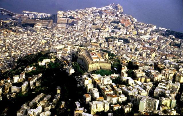 Sizilien - Anflug auf Neapel ,   1839