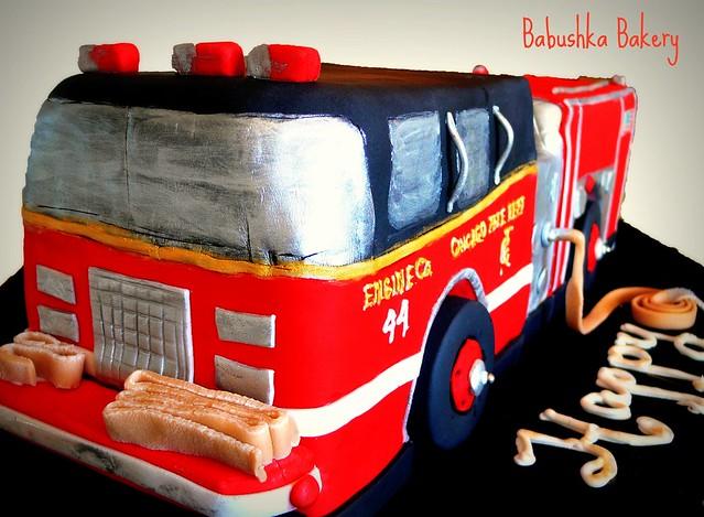 Chicago Fire Engine #44 Cake