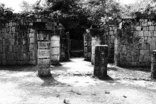 Chichén Itzá B/W Old Home