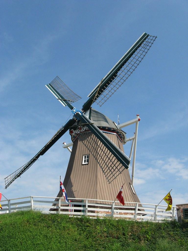 New windmill in Fulton, Illinois