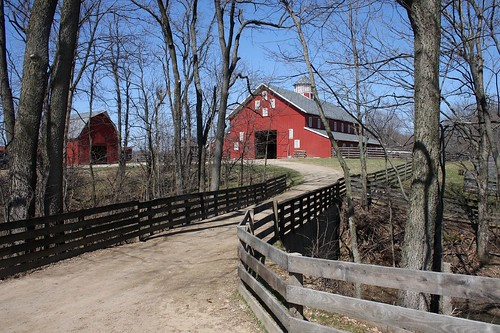 park ohio red barn fence living canal metro farm run historical slate winchester