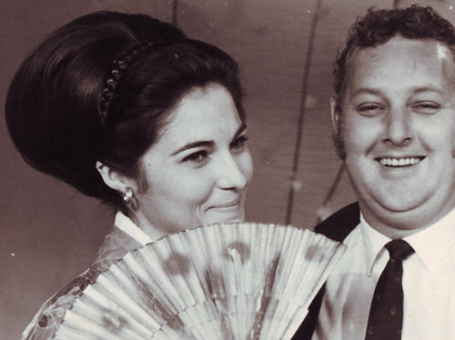 Geisha Girl Trina with Floor Manager Barry Daniel | by WA TV History