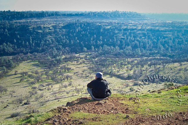 Shane enjoying the view on North Rim Trail