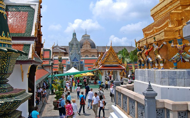Inside the Grand Palace, Bangkok, Thailand