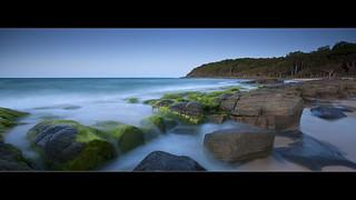 Exposed Mossy Green Rocks | by Garry - www.visionandimagination.com