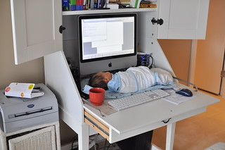 Working with Daddy at home