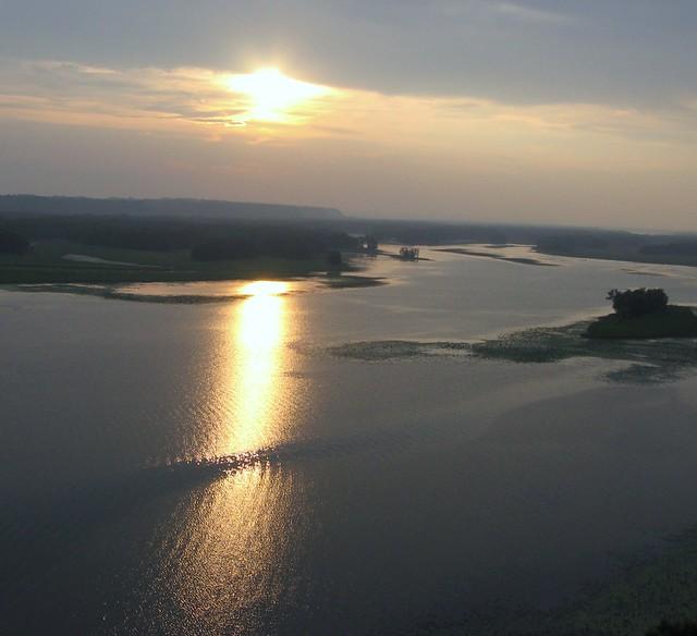 Near Sunset over the Mississippi