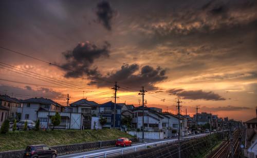 sunset sky japan clouds photoshop canon landscape aperture day cloudy 日本 hdr aichiprefecture chubu honshu 愛知県 mikawa photomatixpro 岡崎市 laspina eos450d 本州 中部地方 davidlaspina rebelxsi kissx2 1855efsis topazadjust okazakicity japandave japandavecom 三河国