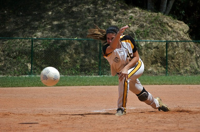Kickingball pitcher