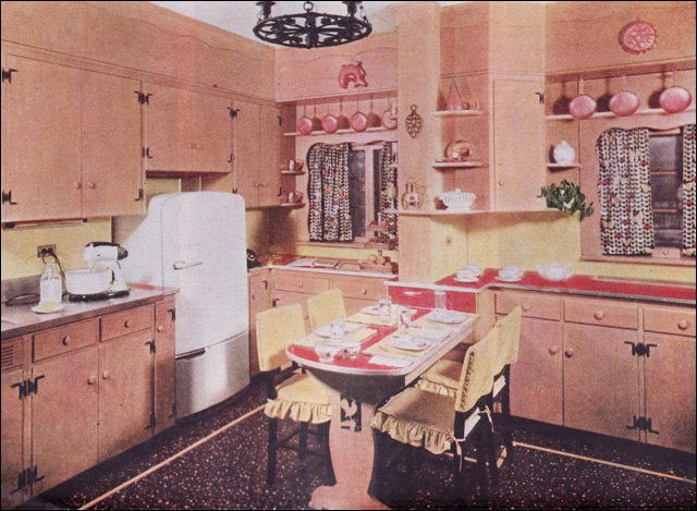 1950s Early American Style Kitchen Lots Of Cabinets A Lam Flickr