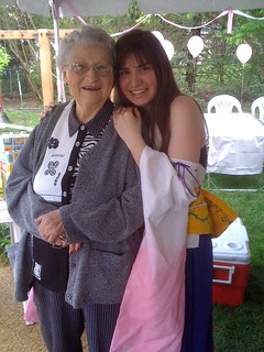 Danielle as Yuna with Grandma Denham 5/9/09