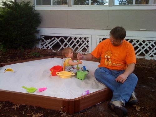 Testing my new sandbox   by Bill and Tina