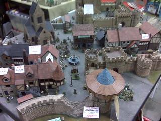 GenCon Miniature fantasy village at Mini Building Authori