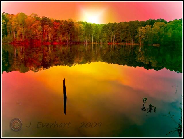 ~April Sunset on Lake Acworth~