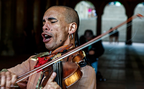 Busker at Bethesda Arcade - Central Park, New York City | by Phil Marion (176 million views - THANKS)