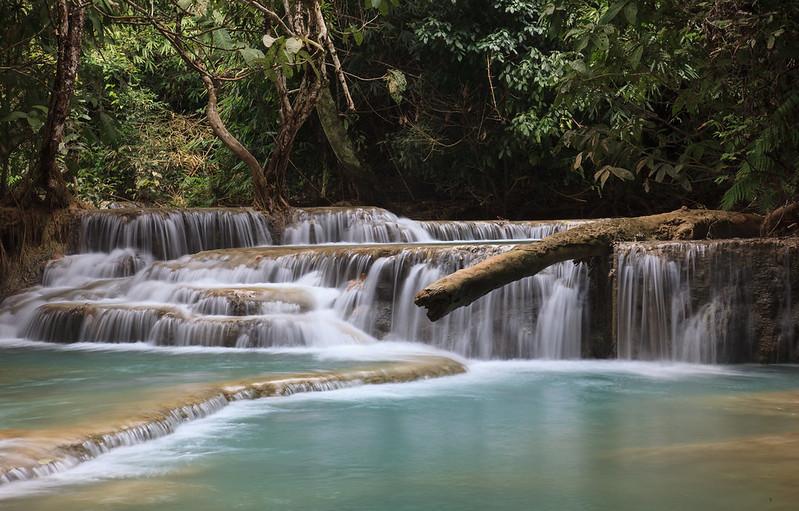 Long exposure at Kuang Si falls, Luang Prabang, Laos